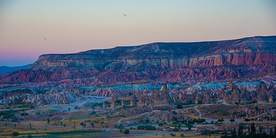 The colored hills surrounding Cappadocia