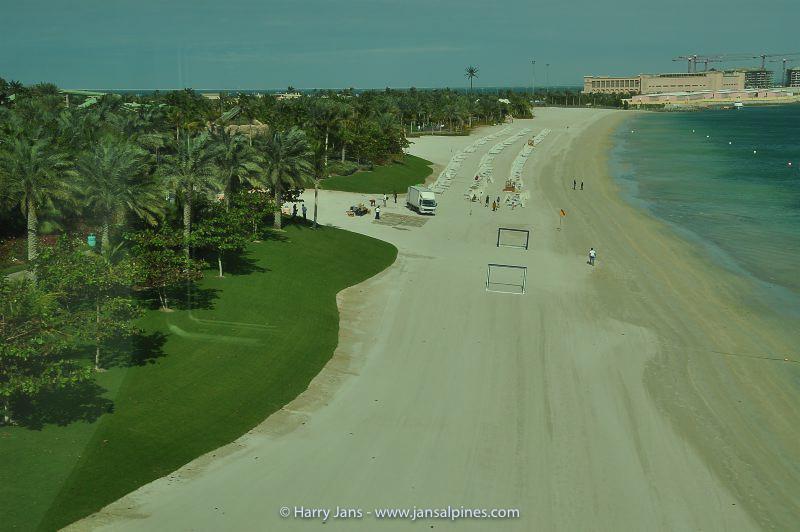 Jumeirah Palm Island, all artificial beach