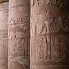 Cloumns inside the Madinat Habu temple of Luxor, Egypt.
