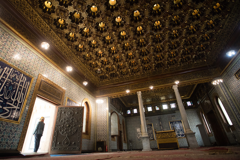 Architectural details of the interior of Al Manial Palace in Cairo, Egypt.