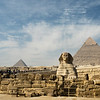 The Sphinx and Great Pyramids of Giza, Egypt.
