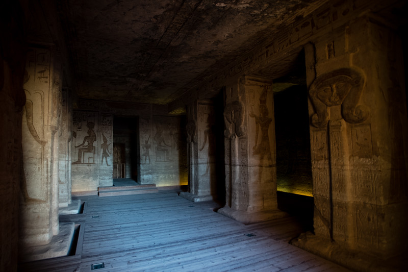 Interior of the Temples of Abu Simbel in Upper Egypt.