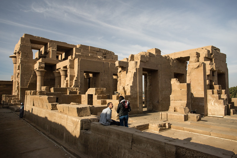 "Scene from the Kom-Ombo ""Crocodile"" Temple near Aswan, Egypt."