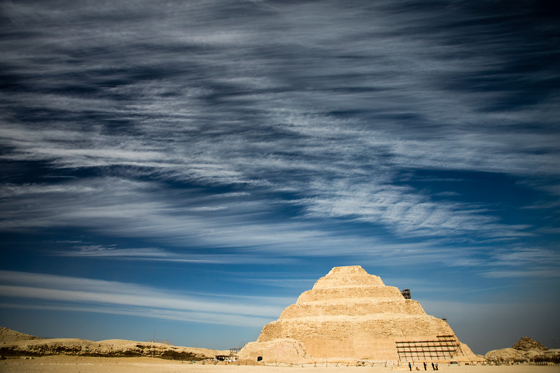 The stepped temple of Sqaaqra, Egypt.