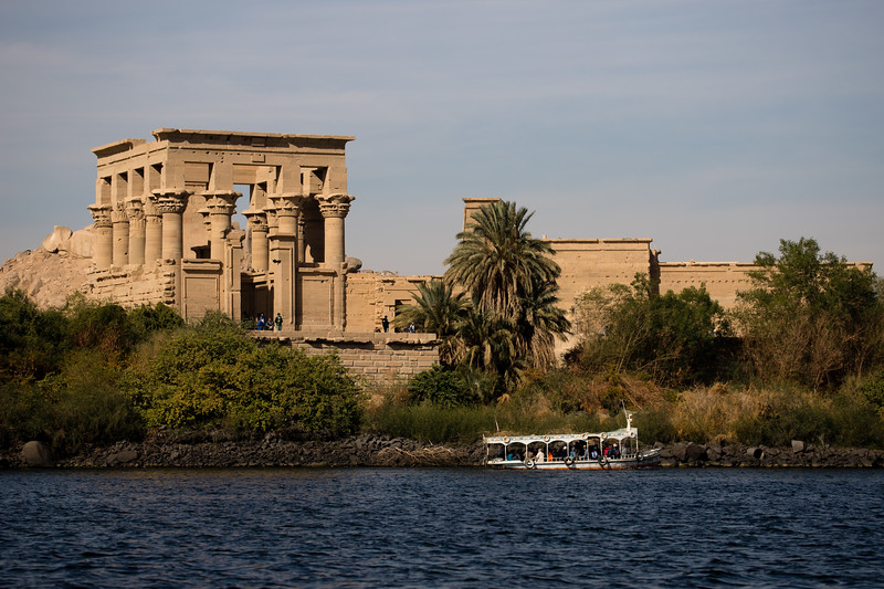 Philae Temple on an island in the Nile river near Aswan, Egypt.