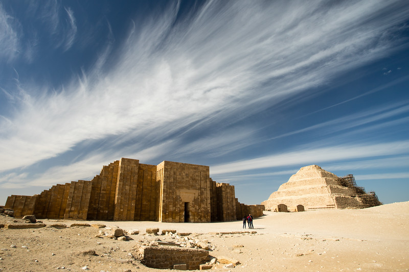 The temple and pyramid of Saqqara, Egypt.