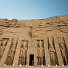 Exterior of the Temples of Abu Simbel in Upper Egypt.