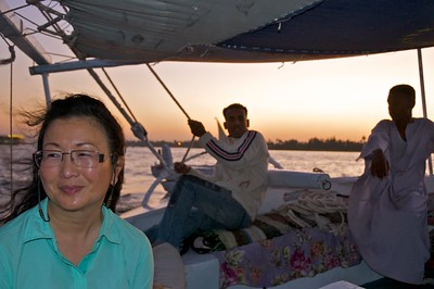 Sunset sail on the Nile