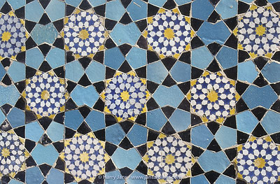 wonderful tiles at the Iman Mosque