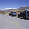 Jeeps near Zagros Mountains