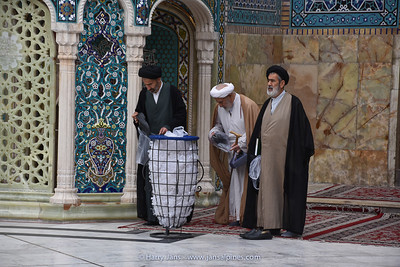 Mullah or Islamic scholar at Fatima Masumeh Shrine in Qom