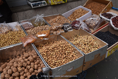 selling nuts on the street in Tehran