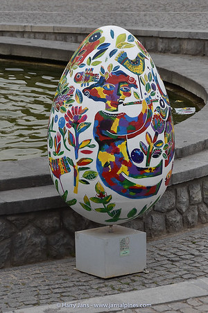 large easter eggs at Daneshjoo Park in Tehran