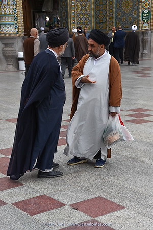 Mullahs or Islamic scholar at Fatima Masumeh Shrine in Qom