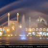 Middle East - Iran - Isfahan Province - Esfahan - Isfahan - UNESCO World Heritage Site - Marvel of Islamic Architecture & Iran's number-one tourist destination - Imam Square - Naqsh-e Jahan Square - Spectacular open space surrounded by stunning buildings from the Safavid era - Masjed Jame Abbasi - Masjed-e Jāmé - Friday mosque - Jameh Mosque of Isfahan - One of the oldest mosques still standing in Iran - Result of continual construction, reconstruction, additions and renovations on the site from around 771 to the end of the 20th century