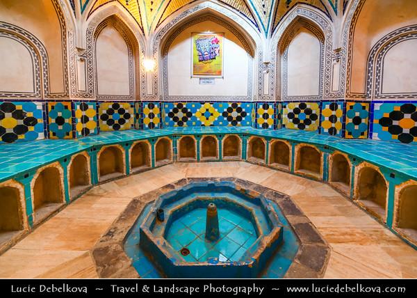 Middle East - Iran - Isfahan Province - Kashan - Ancient oasis town on edge of Dasht-e Kavir Desert - Sultan Amir Ahmad Historical Bath - Hammam-e Sultan Amir Ahmad - Qasemi Bathhouse - Traditional Iranian public bathhouse constructed in 16th century during the Safavid era