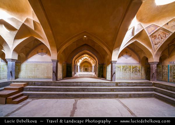 Middle East - Iran - Isfahan Province - Esfahan - Isfahan - UNESCO World Heritage Site - Marvel of Islamic Architecture & Iran's number-one tourist destination - Ali Qoli Aqa Bath-house Museum - Hammam-e Ali Gholi Agha Bath House - Beautifully decorated bathhouse built 18th century