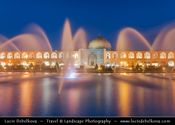 Middle East - Iran - Isfahan Province - Esfahan - Isfahan - UNESCO World Heritage Site - Marvel of Islamic Architecture & Iran's number-one tourist destination - Imam Square - Naqsh-e Jahan Square - Spectacular open space surrounded by stunning buildings from the Safavid era - Sheikh Lotfollah Mosque - Masjed-e Sheikh Lotfollah - One of the architectural masterpieces of Safavid Iranian architecture