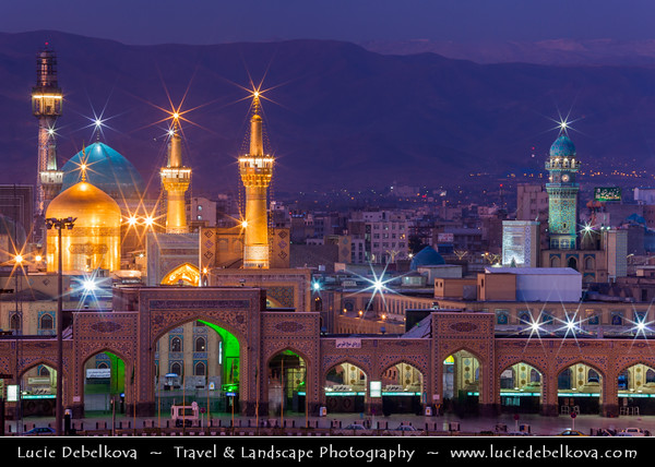 Middle East - Iran - Razavi Khorasan Province - Mashhad - Mashad - Place of martyrdom - One of the holiest cities in the Shia Muslim world - Imam Reza Holy Shrine - Complex containing mausoleum of Imam Reza, the eighth Imam of Twelver Shiites - One of largest mosques in world