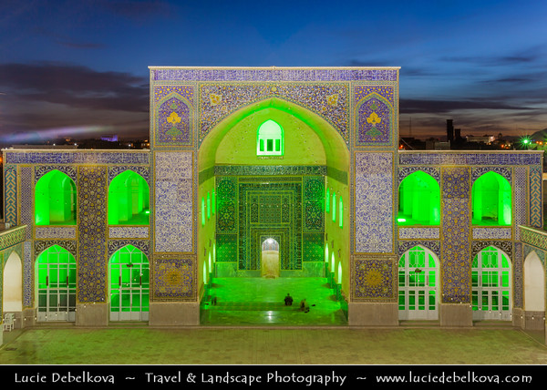 Middle East - Iran - Kerman province - Kerman - Kermun - Kirman - Historical desert town with many historic mosques and Zoroastrian fire temples - Grand Mosque of Kerman - Masjed-e Jame'a - Masjed Jameh - Friday Mosque