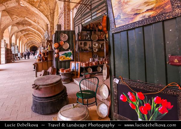 Middle East - Iran - Kerman province - Kerman - Kermun - Kirman - Historical desert town with many historic mosques and Zoroastrian fire temples - Kerman's Grand Bazaar - Souq - Souk - One of the oldest trading centres in Iran - Vakil Bazaar - Ganjali Khan Bazaar