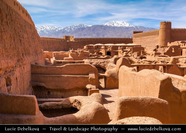 Middle East - Iran - Kerman province - Rayen Castle - Arg-e Rāyen - Medieval mudbrick city of Rayen is similar to the Arg-é Bam city destroyed in earthquake in 2003,