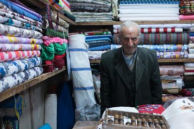 Inside the bazaar... he is actually smiling