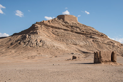 Zoroastrian towers of silence.. they used to lay their dead there to let them be eaten and not to pollute the earth