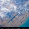 Middle East - Iran - Qeshm - قشم - Kishm - Iranian island in Strait of Hormuz separated from the mainland by Clarence Strait/Khuran in Persian Gulf - Aerial View