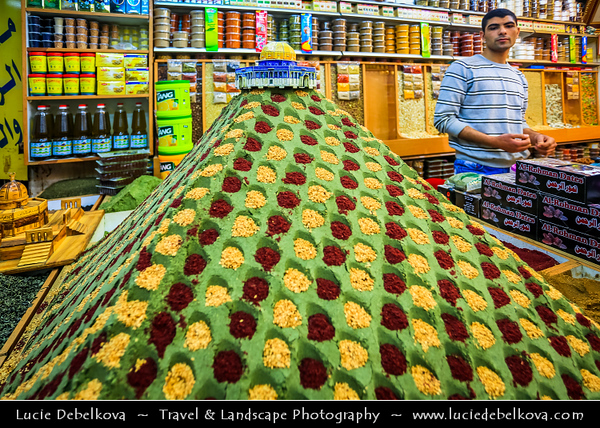 Israel - Jerusalem - יְרוּשָׁלַיִם - Capital City - One of the oldest cities in the world - Holiest city in Jewish tradition since, according to the Hebrew Bible, King David of Israel - Old City Market - Bazaar - Souk - Souq that sprawls across the Christian & Moslem Quarters in Jerusalem's Old City with many shops & stalls with traditional products, clothes, household items, handcrafted or baked goods and sweets
