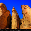 Israel - Eilat - Timna National Park - Beautiful natural desert setting offering incredible views of mountain terrain - Shlomo columns - Pillars of Soloman - Very beautiful and unusual rock formations