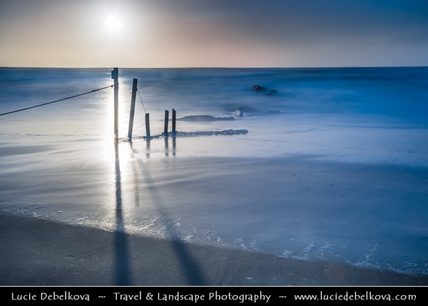 Israel - Tel Aviv - תֵּל־אָבִיב - City located on Israeli shores of the Mediterranean Sea coastline in central-west Israel - Hof HaBonim - City surrounding very popular beautiful beach with many inlets, interesting rock forms & visible shipwreck