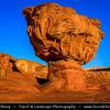 Israel - Eilat - Timna National Park - Beautiful natural desert area - Mushroom Rock - Very beautiful and unusual mushroom-shaped, red sandstone rock formation