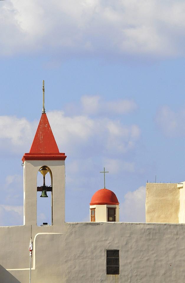 Christian church tower.