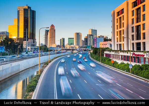 Israel - Tel Aviv - תֵּל־אָבִיב - City located on Israeli shores of the Mediterranean Sea coastline in central-west Israel - Ramat Gan Financial District -