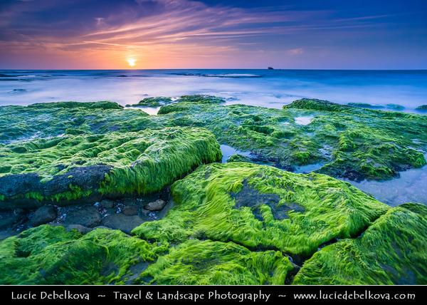 Israel - Tel Aviv - תֵּל־אָבִיב - City located on Israeli shores of the Mediterranean Sea coastline in central-west Israel - Palmachim beach -  פַּלְמַחִים - City surrounding very popular beautiful beach