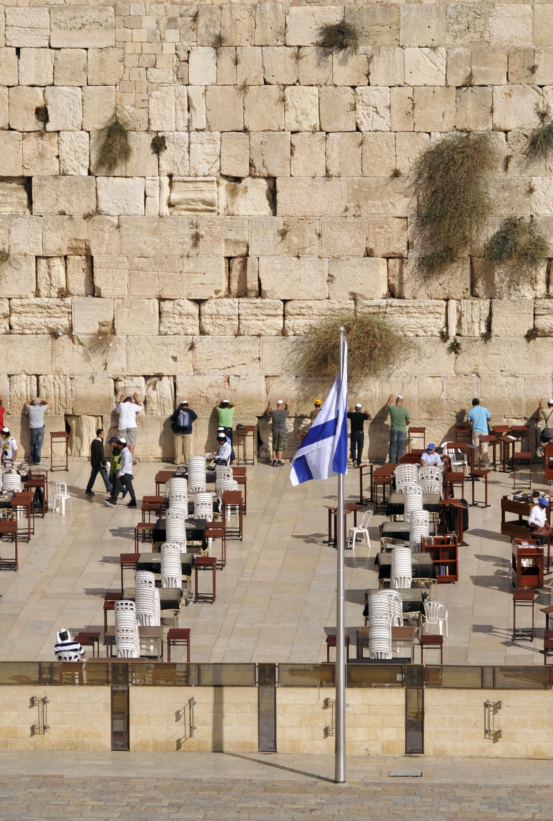 Worshippers by the Western Wall.