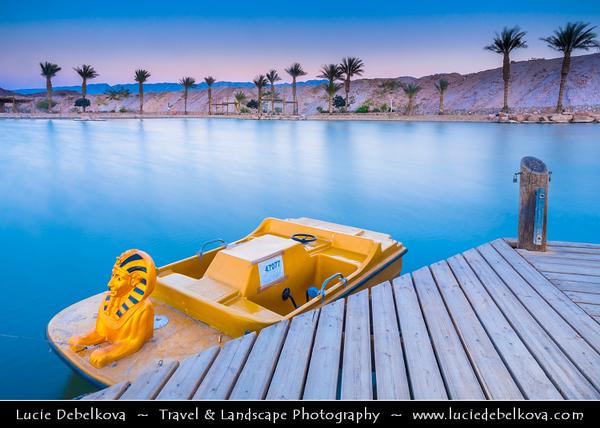Israel - Eilat - Timna National Park - Beautiful natural desert setting offering incredible views of mountain terrain - Hidden Lake