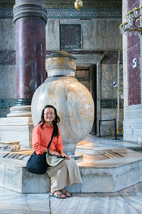 Large Alabaster Urns inside the Hagia Sofia