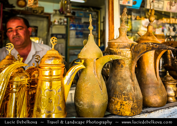 Middle East - Jordan - Hashemite Arab Kingdom of Jordan - Amman - Capital & largest city of Jordan - Country's political, cultural and commercial centre and one of the oldest continuously inhabited cities in the world - Downtown market with many local products