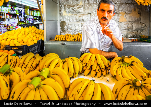 Jordan - Hashemite Arab Kingdom of Jordan - Amman - Capital & largest city of Jordan - Country's political, cultural and commercial centre and one of the oldest continuously inhabited cities in the world - Old Souq - Souk - Market