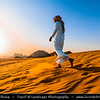 Jordan - Hashemite Arab Kingdom of Jordan - Wadi Rum - UNESCO World Heritage Site - The Valley of the Moon - Spectacularly scenic desert valley cut into the sandstone and granite rock in southern Jordan - Traditional bedouin life in desert