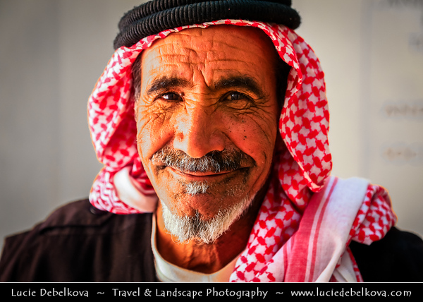 Jordan - Hashemite Arab Kingdom of Jordan - Wadi Rum - UNESCO World Heritage Site - The Valley of the Moon - Spectacularly scenic desert valley cut into the sandstone and granite rock in southern Jordan - Local Market and its people