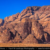 Jordan - Hashemite Arab Kingdom of Jordan - Wadi Rum - UNESCO World Heritage Site - The Valley of the Moon - Spectacularly scenic desert valley cut into the sandstone and granite rock in southern Jordan