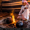 Middle East - Jordan - Hashemite Arab Kingdom of Jordan - Wadi Rum - UNESCO World Heritage Site - The Valley of the Moon - Spectacularly scenic desert valley cut into the sandstone and granite rock in southern Jordan