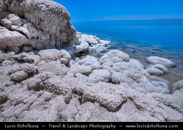 Middle East - Jordan - Hashemite Arab Kingdom of Jordan - Dead Sea - The Lowest Point on Earth - Spectacular Natural & Spiritual Landscape - Sea of Salt