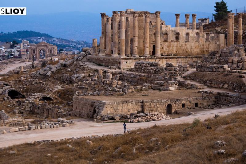 Temple of Zeus at the Ruins of Jerash in Northern Jordan.