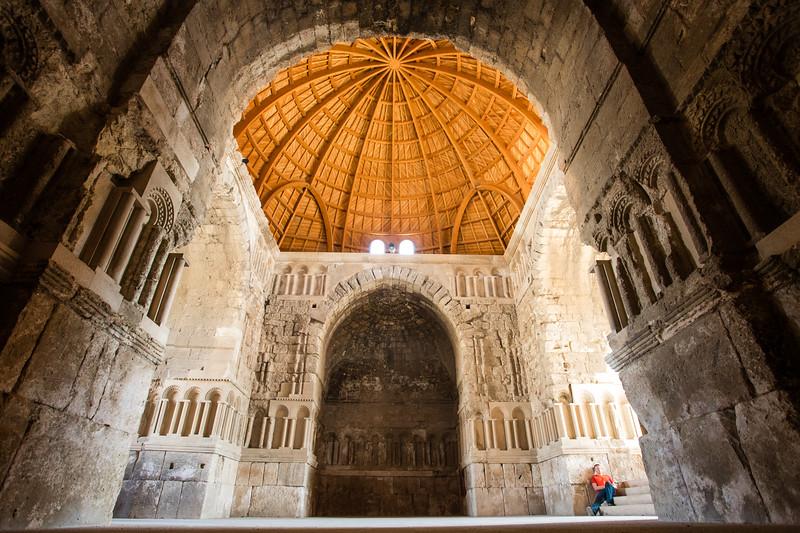 Inside the Citadel in Amman, Jordan.