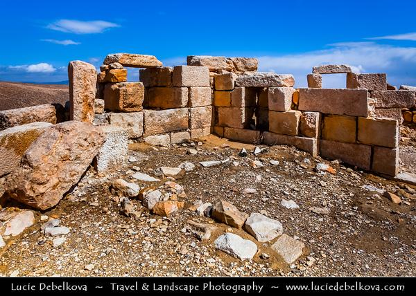 Middle East - Jordan - Hashemite Arab Kingdom of Jordan - Shobak Castle - Shoubak - Shawbak - Crusader Fortresses - Castle Ruins on the eastern side of the Arabah