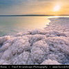 Jordan - Hashemite Arab Kingdom of Jordan - Dead Sea - The Lowest Point on Earth - Spectacular Natural & Spiritual Landscape - Sea of Salt during Sunset time